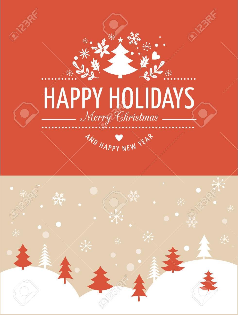 Frohe Weihnachten-Hintergrund Mit Typografie, Schrift. Red Grußkarte ...