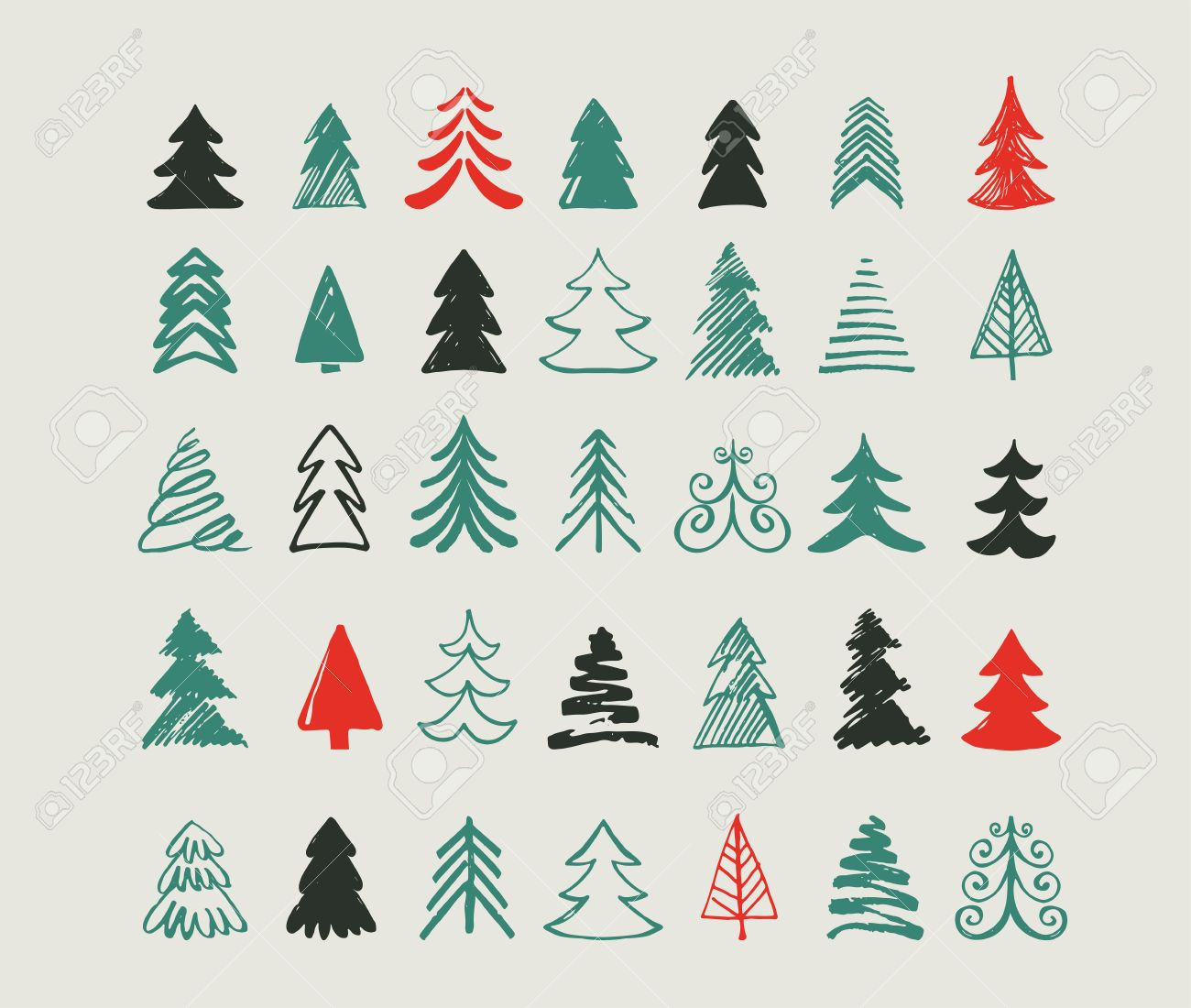 hand drawn christmas tree icons doodles and sketches royalty free cliparts vectors and stock illustration image 45361982 hand drawn christmas tree icons doodles and sketches royalty free cliparts vectors and stock illustration image 45361982