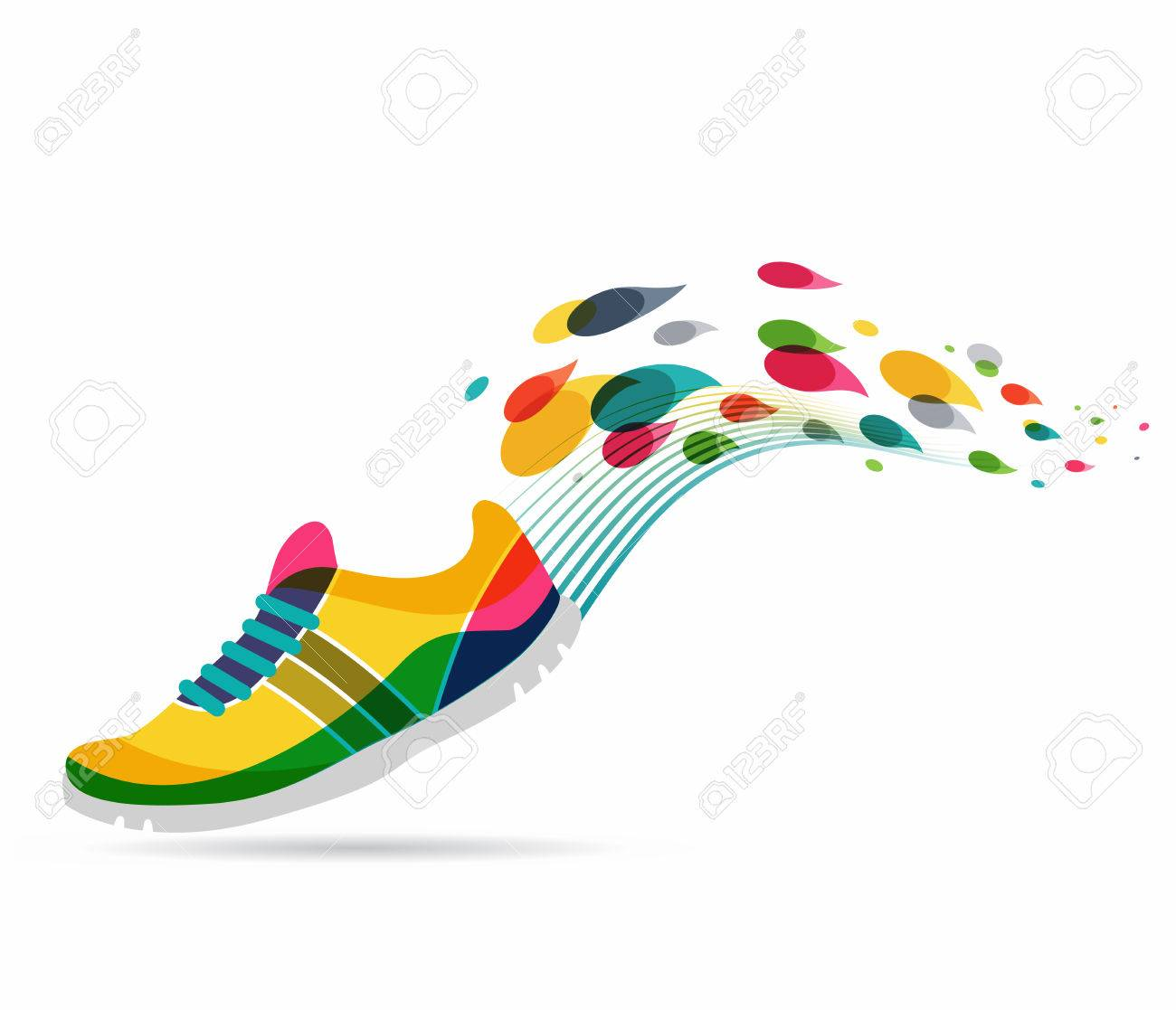 Colorful vector poster - running and sport - 47655963