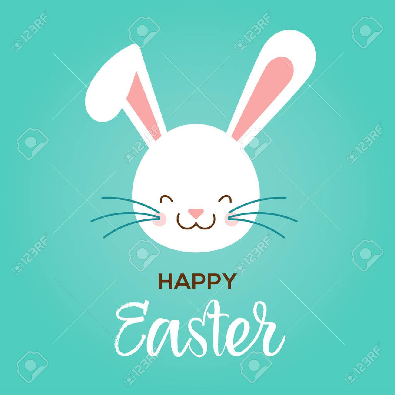 Colorful happy easter greeting card with rabbit bunny and text colorful happy easter greeting card with rabbit bunny and text stock vector 52823554 m4hsunfo