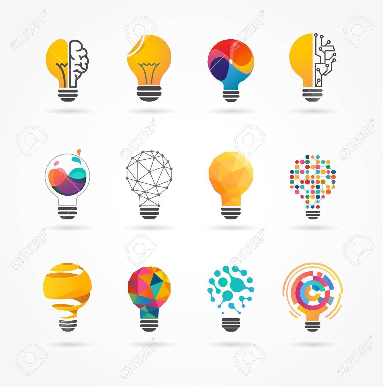 Light bulb - idea, creative, technology icons and elements - 52823563