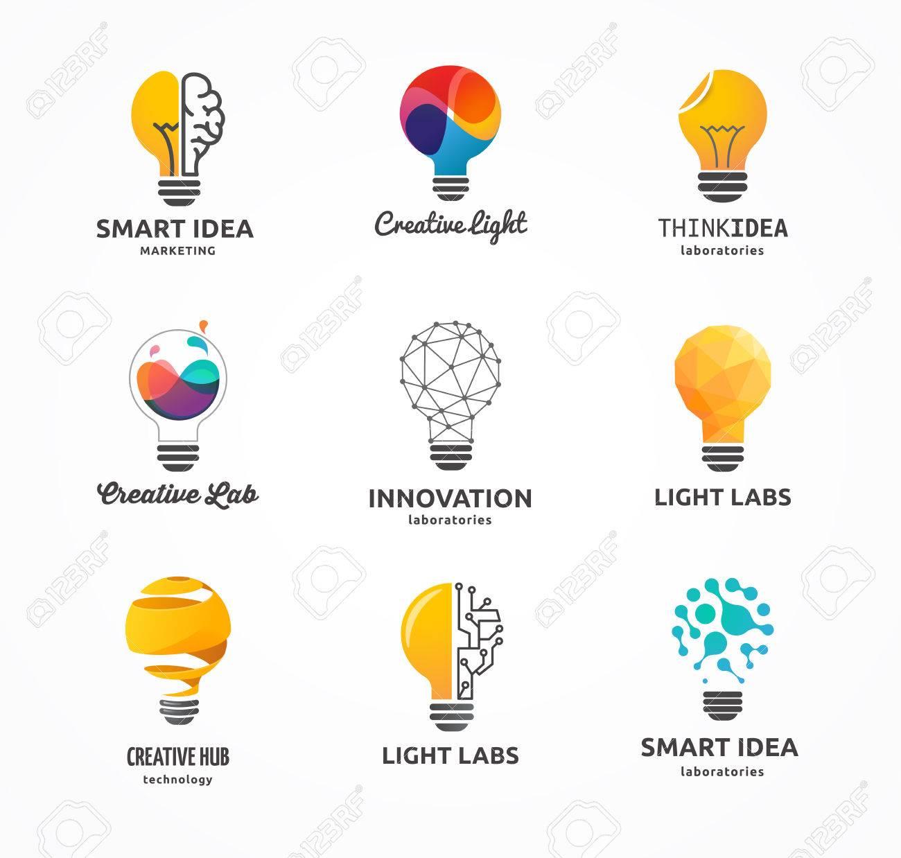 Light bulb - idea, creative, technology icons and elements - 52823561