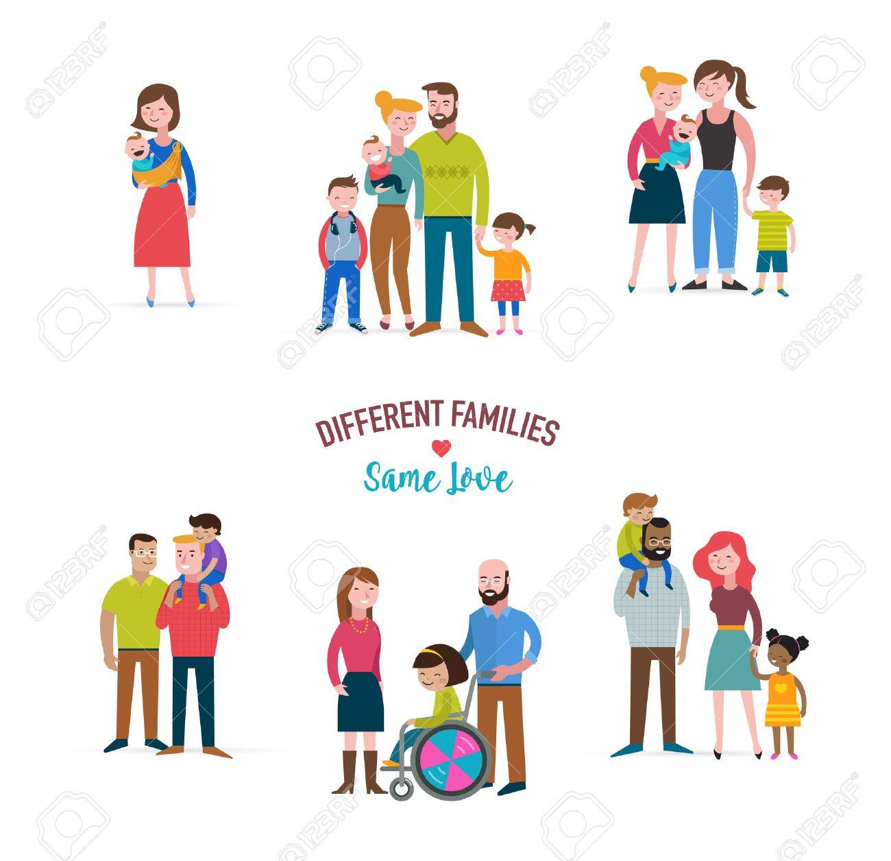 Familia Gay, Diferentes Tipos De Familias, Niños Con Necesidades ...