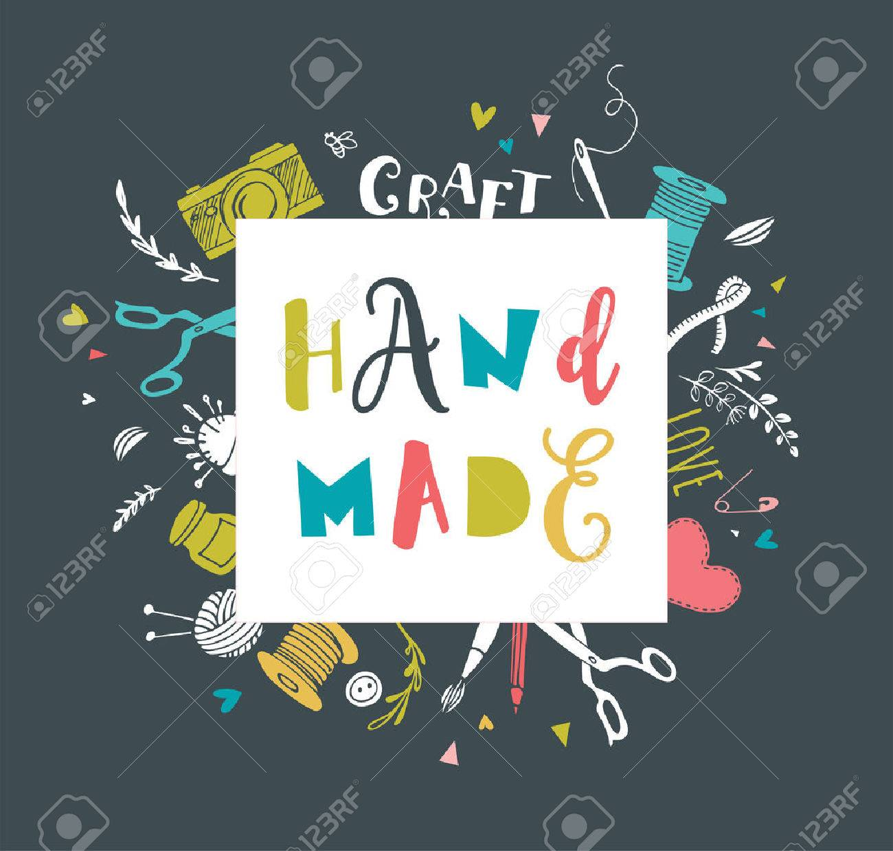 Handmade Crafts Workshop Art Fair And Festival Poster Flyer