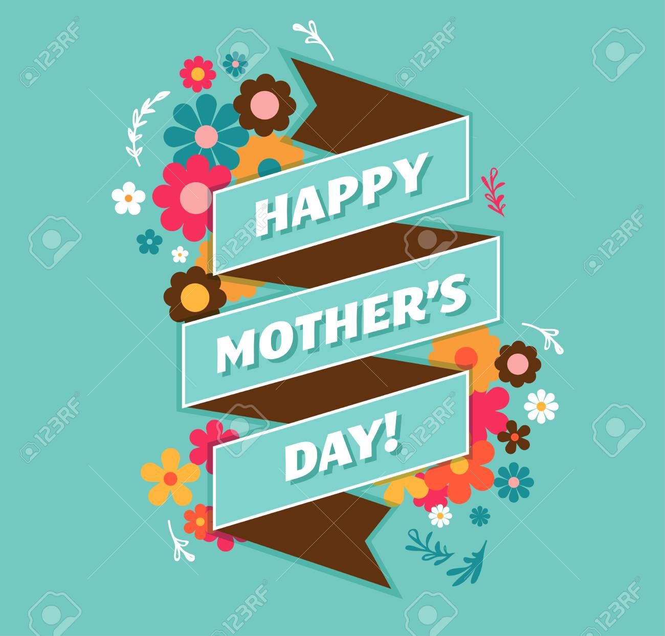 Happy mothers day greeting card and lettering typography design happy mothers day greeting card and lettering typography design stock vector 55808156 m4hsunfo