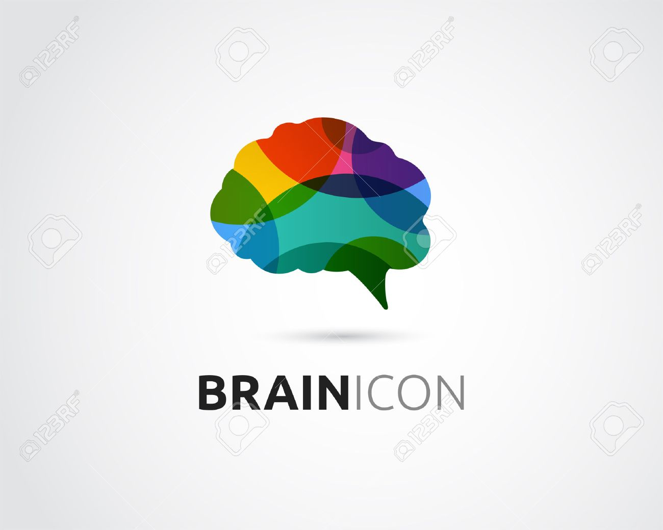 Brain, smart, Creative mind, learning and design icons. Man head, people colorful symbol - 58658764