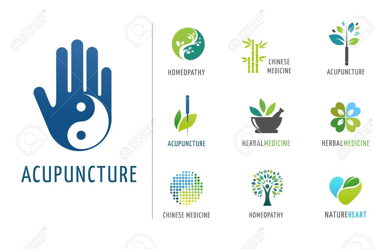 Alternative, Chinese medicine and wellness, yoga, zen meditation concept - vector icons, logos - 59738309
