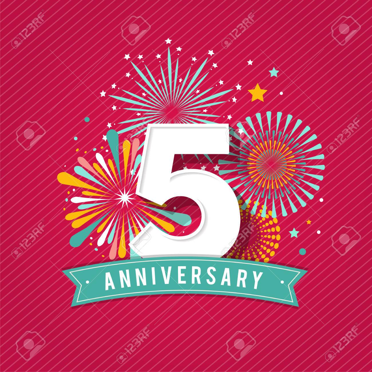 Anniversary fireworks and celebration background, poster, banner - 60330232