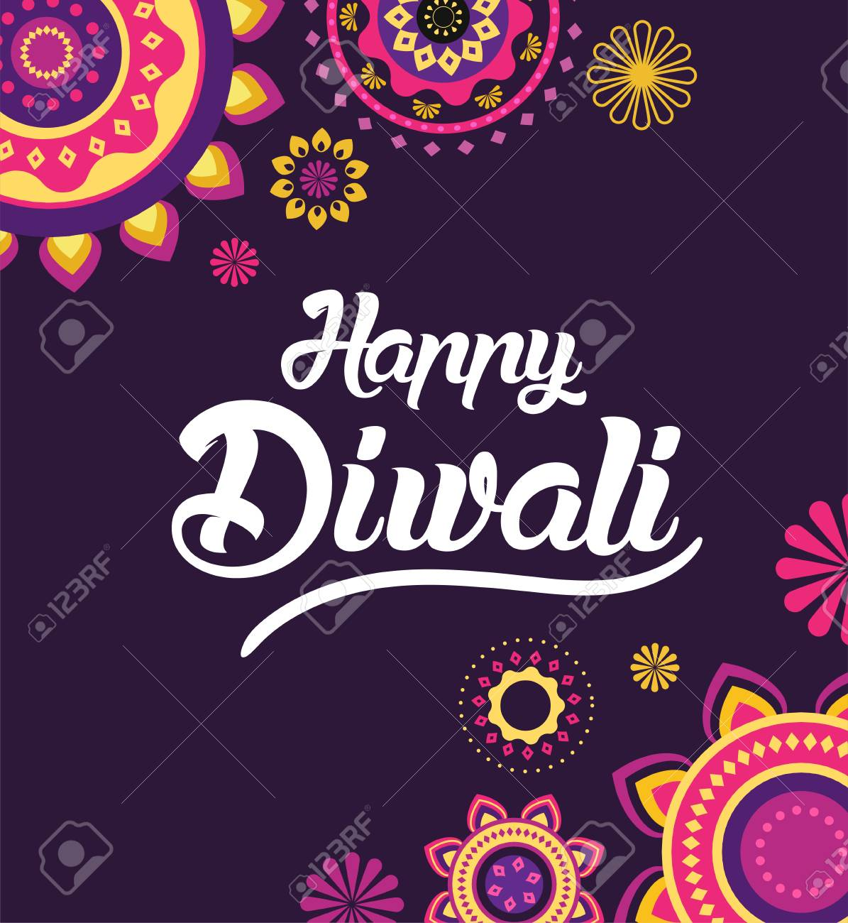 Happy diwali greeting card for hindu community indian festival happy diwali greeting card for hindu community indian festival background illustration stock vector m4hsunfo