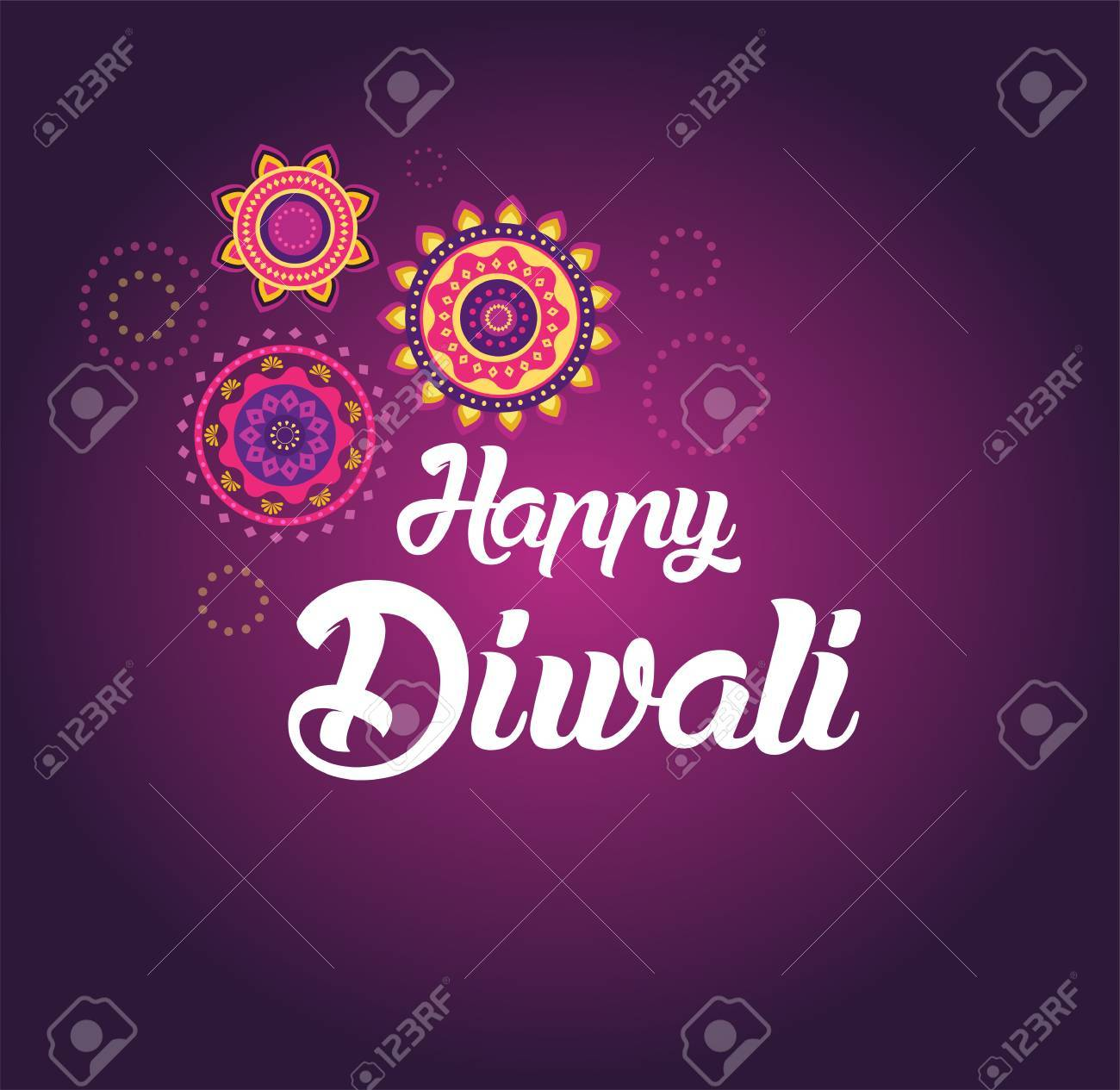 Happy Diwali Greeting Card For Hindu Community Indian Festival