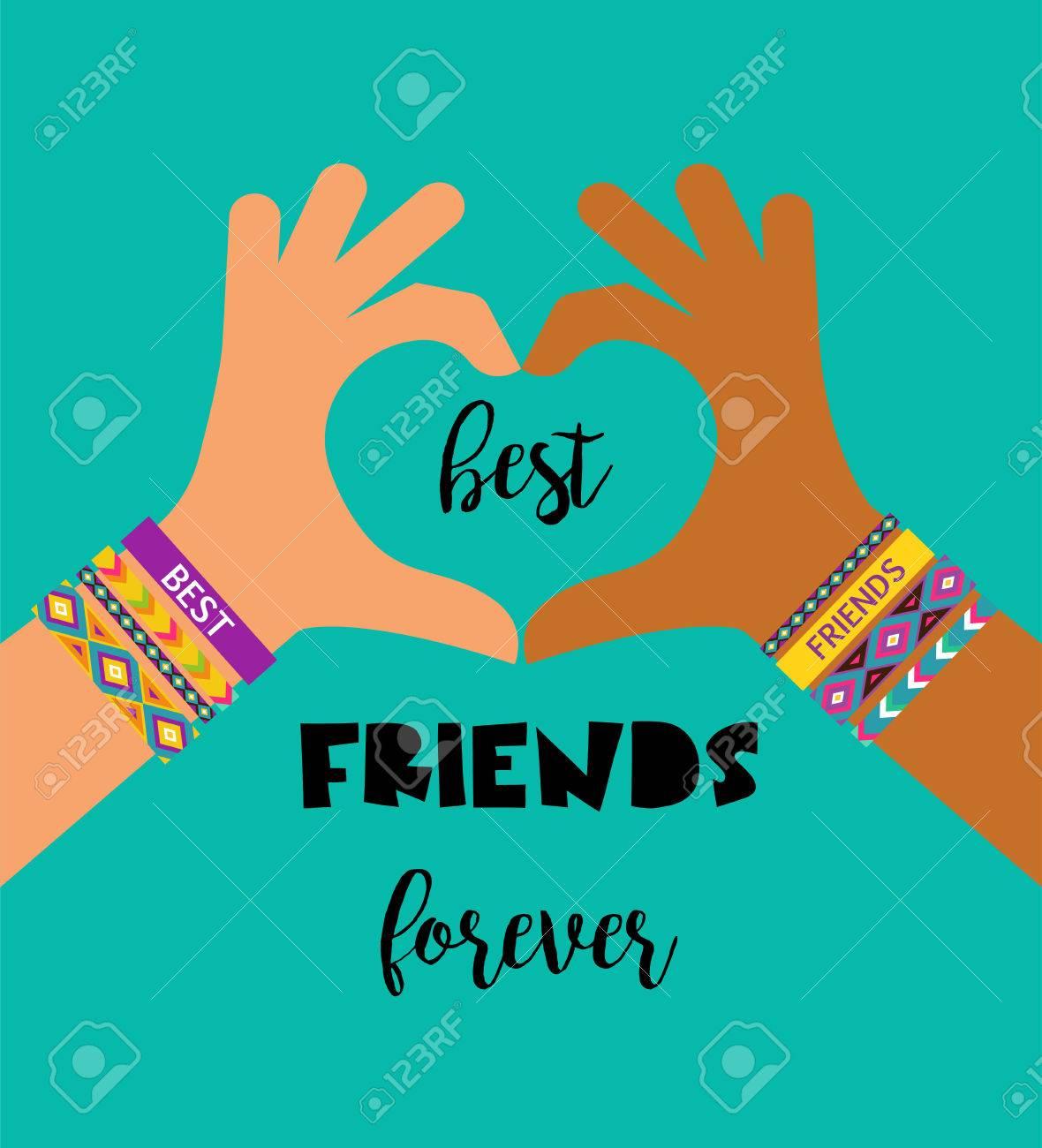 Best Friends Forever Happy Friendship Day Poster Design Banner