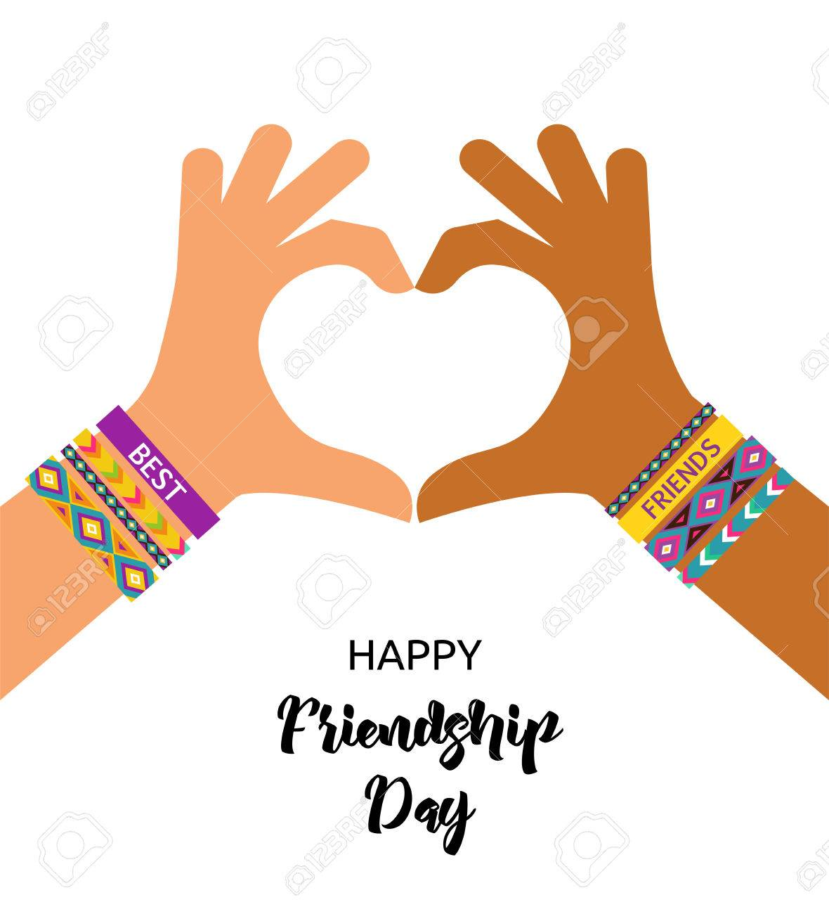Best friends forever happy friendship day poster design banner best friends forever happy friendship day poster design banner greeting card stock vector m4hsunfo Gallery
