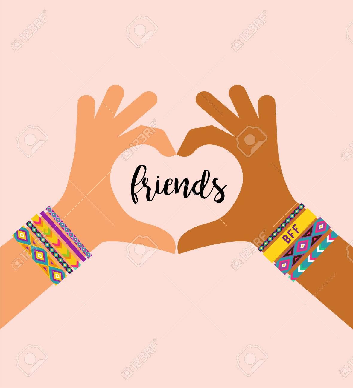 Mejores Amigos Para Siempre Feliz Día De La Amistad Diseño De