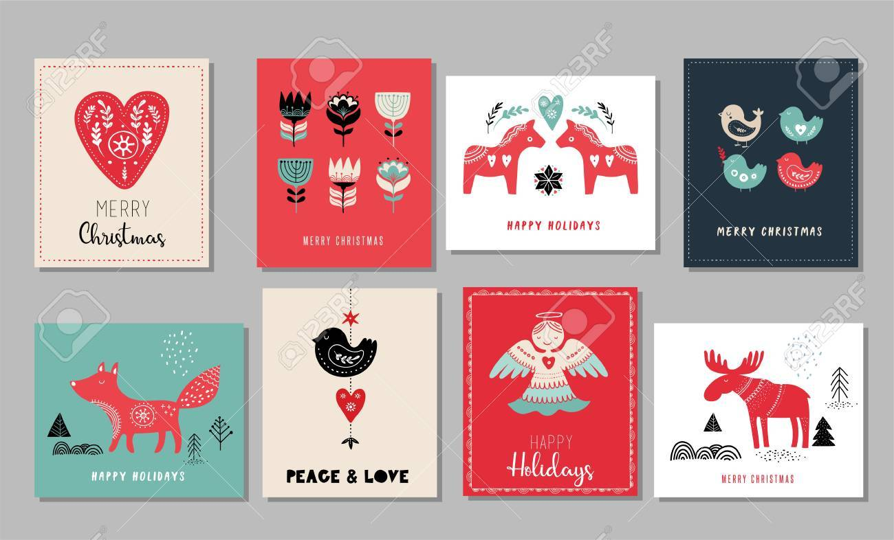 Christmas Card Design. Royalty Free Cliparts, Vectors, And Stock ...