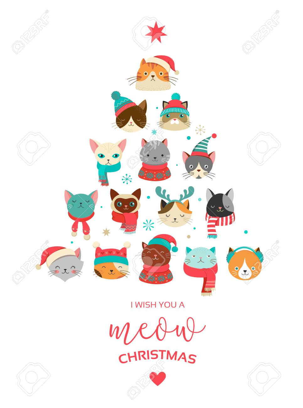 セーターニットの帽子のようなアクセサリーとかわいい猫のメリー