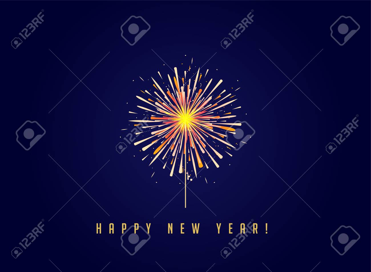 fireworks and celebration background happy new year banner stock vector 90315596
