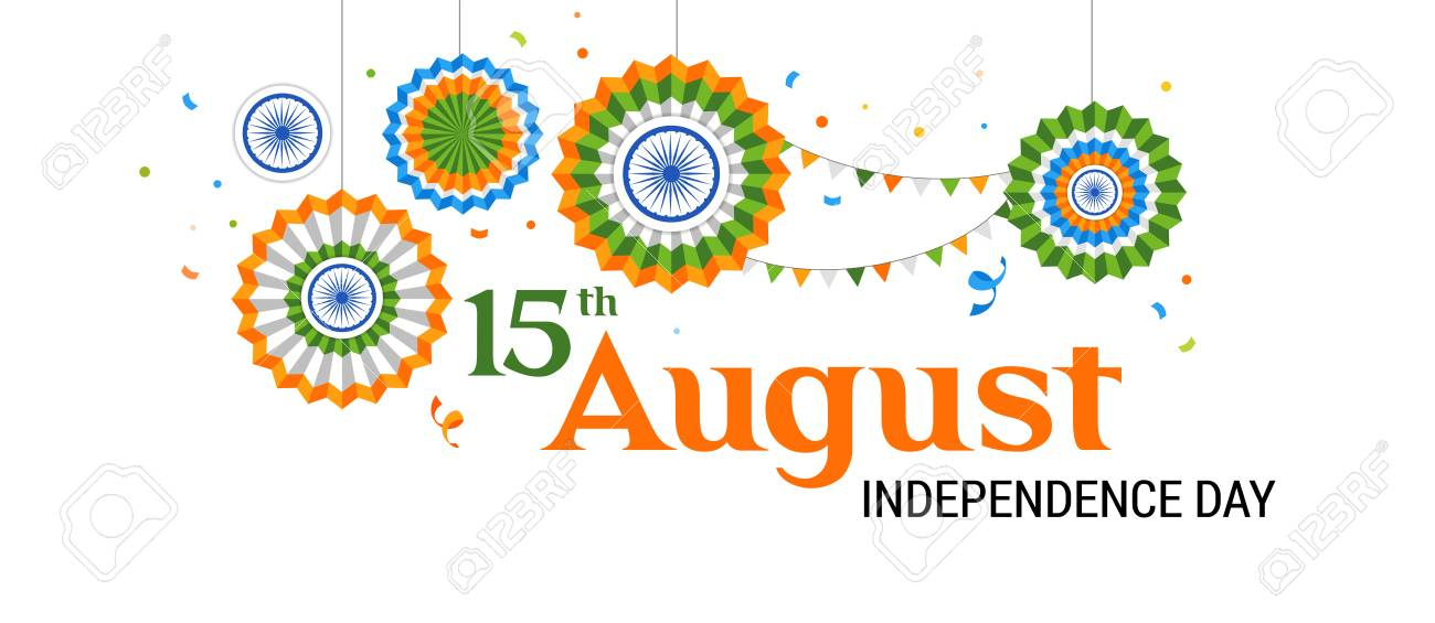 Indian holiday, Happy Independence Day celebration, poster and banner design - 104217168