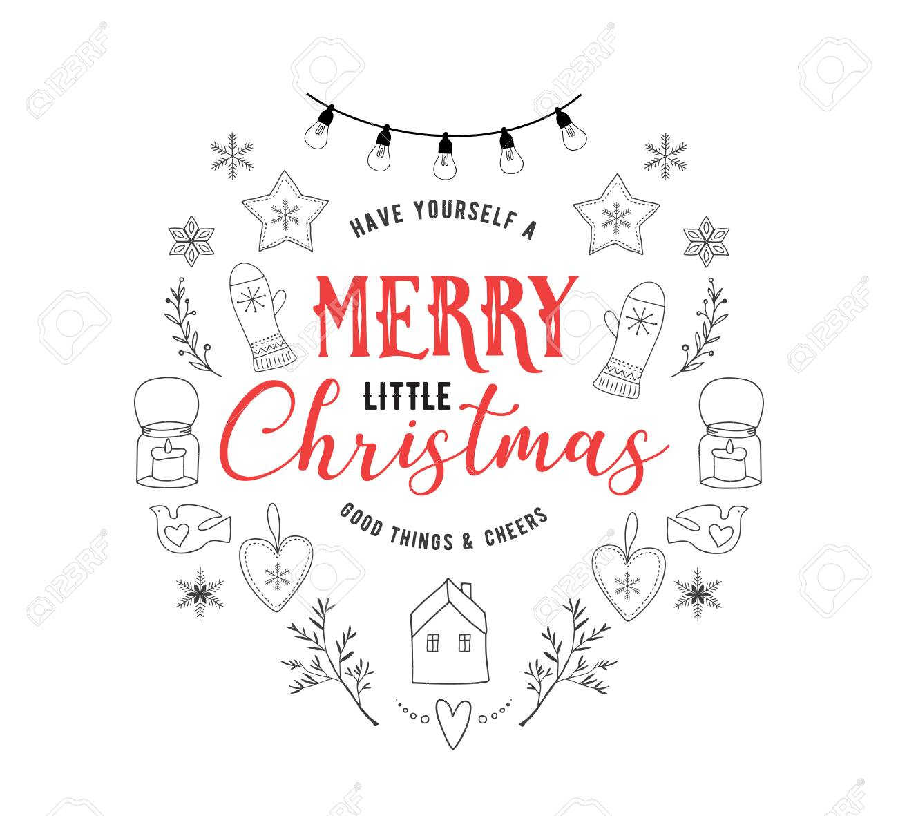 Christmas Card Quotes.Scandinavian Style Simple And Stylish Merry Christmas Greeting