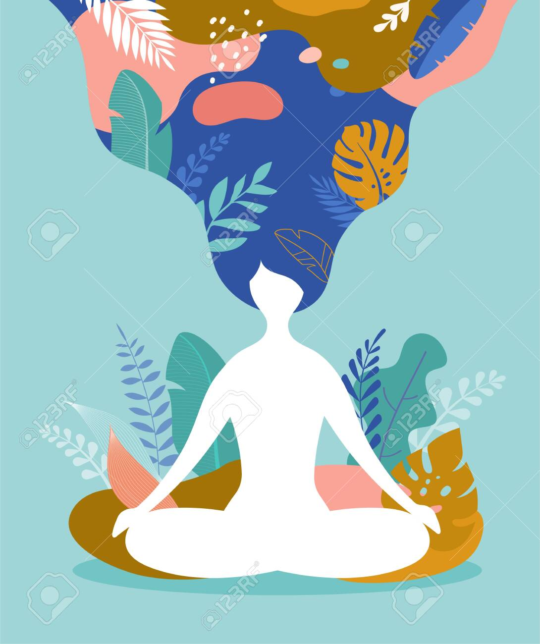 Coping With Stress And Anxiety Using Mindfulness Meditation Royalty Free Cliparts Vectors And Stock Illustration Image 145109789