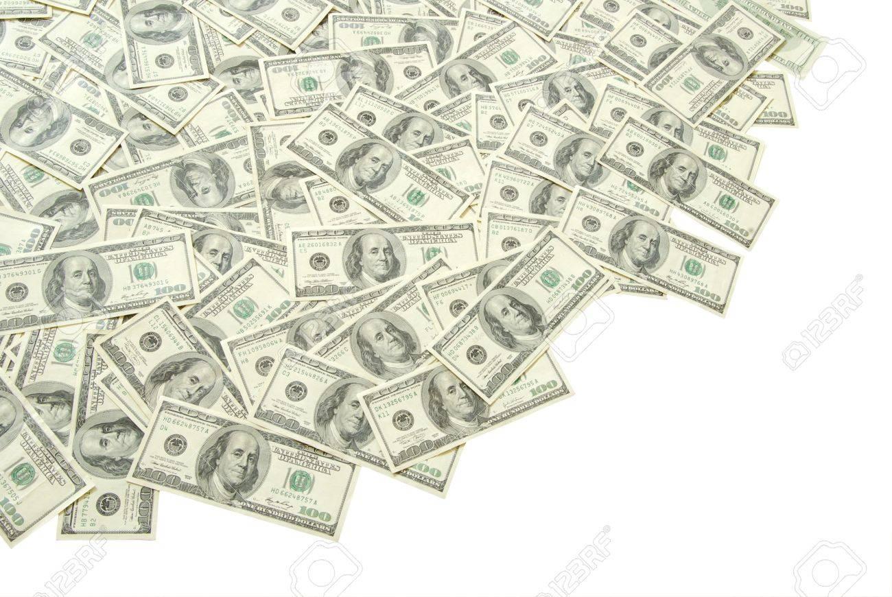 stack of money isolated on white background - 8010001