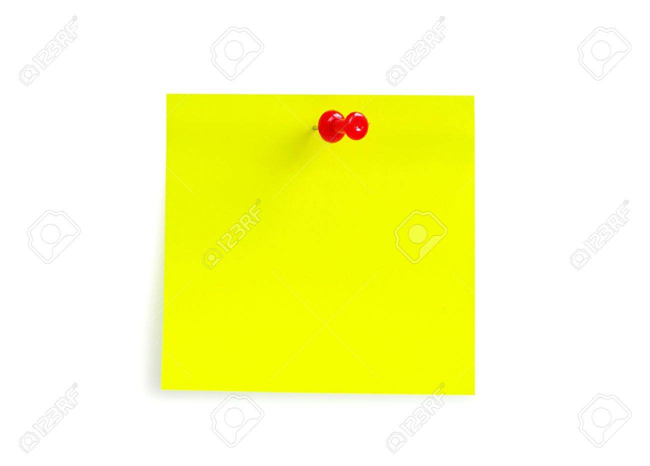 note paper isolated on the white background - 11510591