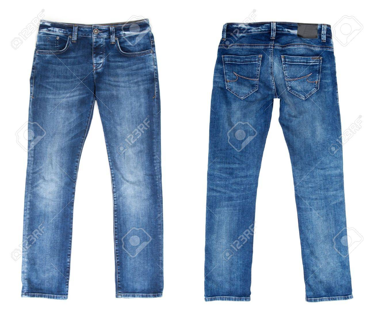 Blue Jeans Isolated on White - 15806723