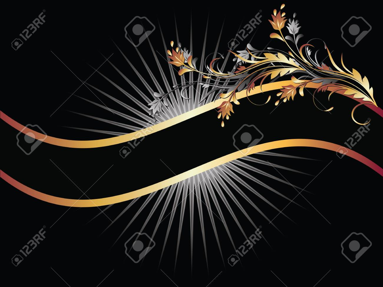 Background with golden ornament for various design artwork Stock Vector - 8136669