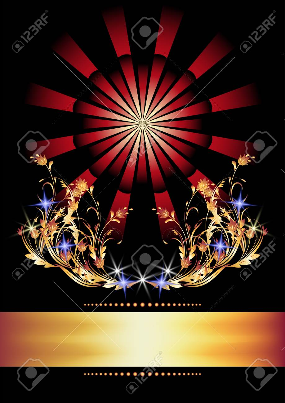 Background with golden ornament for various design artwork Stock Vector - 8212880