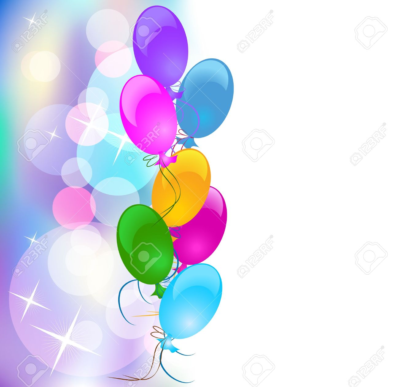 Background with balloons Stock Vector - 8776201