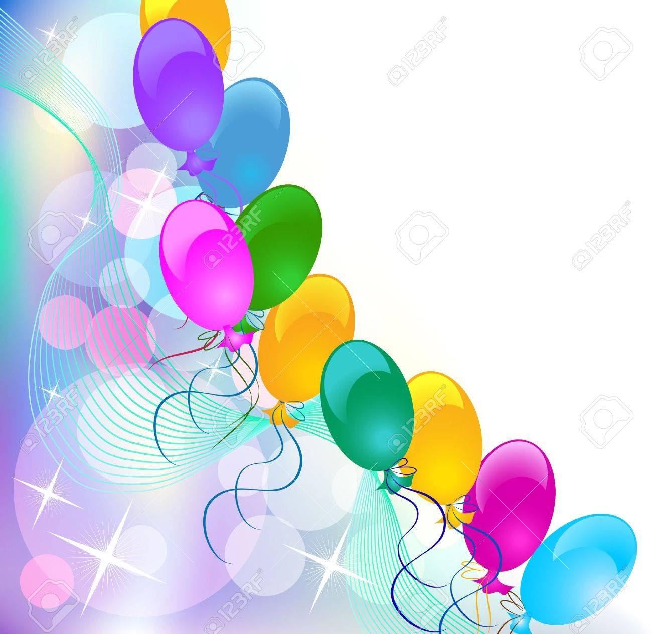 Celebratory abstract background with balloons. Stock Vector - 8776202
