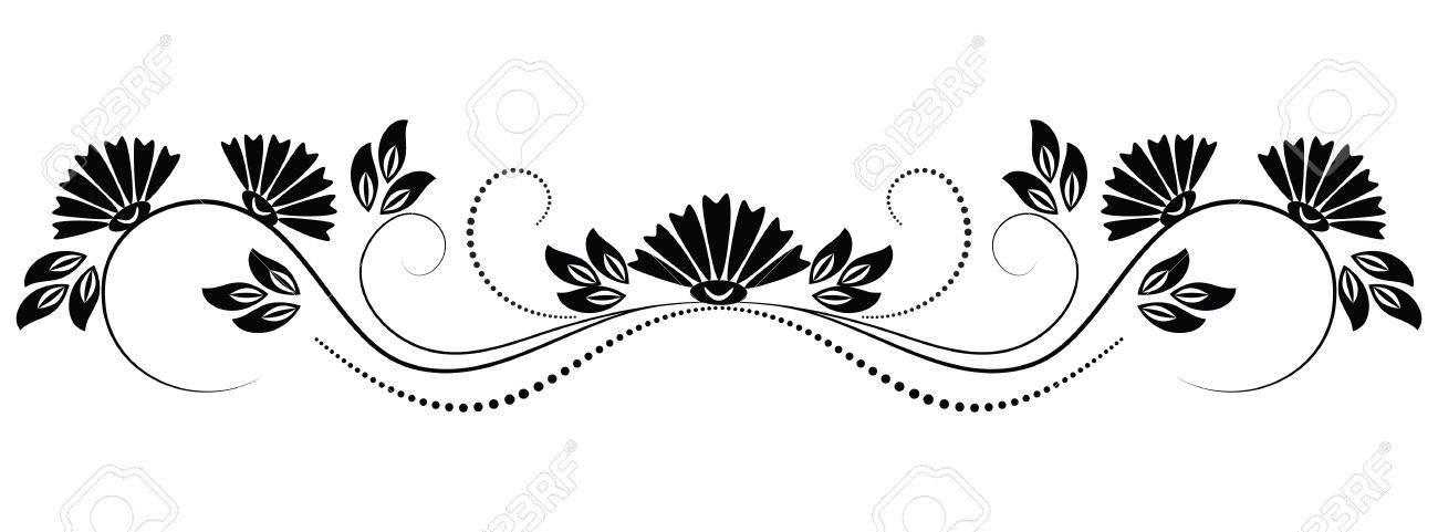 Calligraphic Design Elements Blumenschablonen 13
