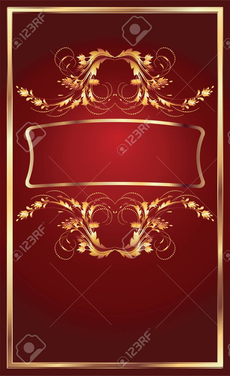 Background with golden ornament for various design artwork Stock Vector - 9810090