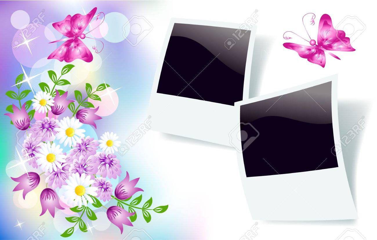 Floral background for an insert of the text or a photo. Stock Vector - 10057269