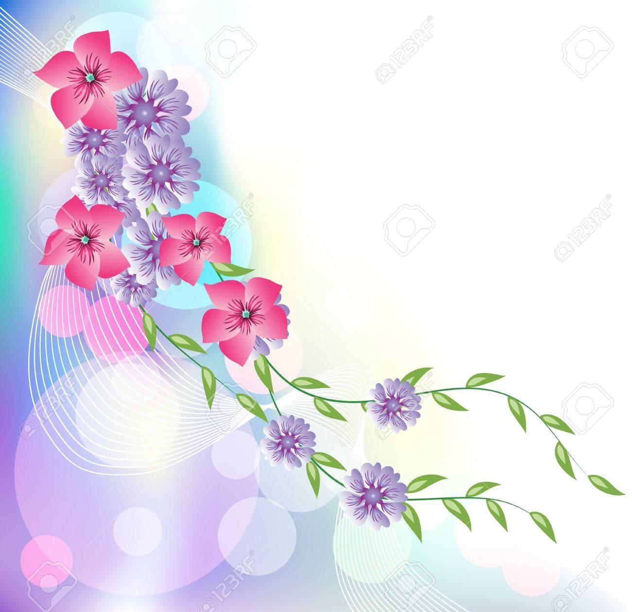 Fondo Resplandeciente Con Flores Para Diversas Obras De Arte De