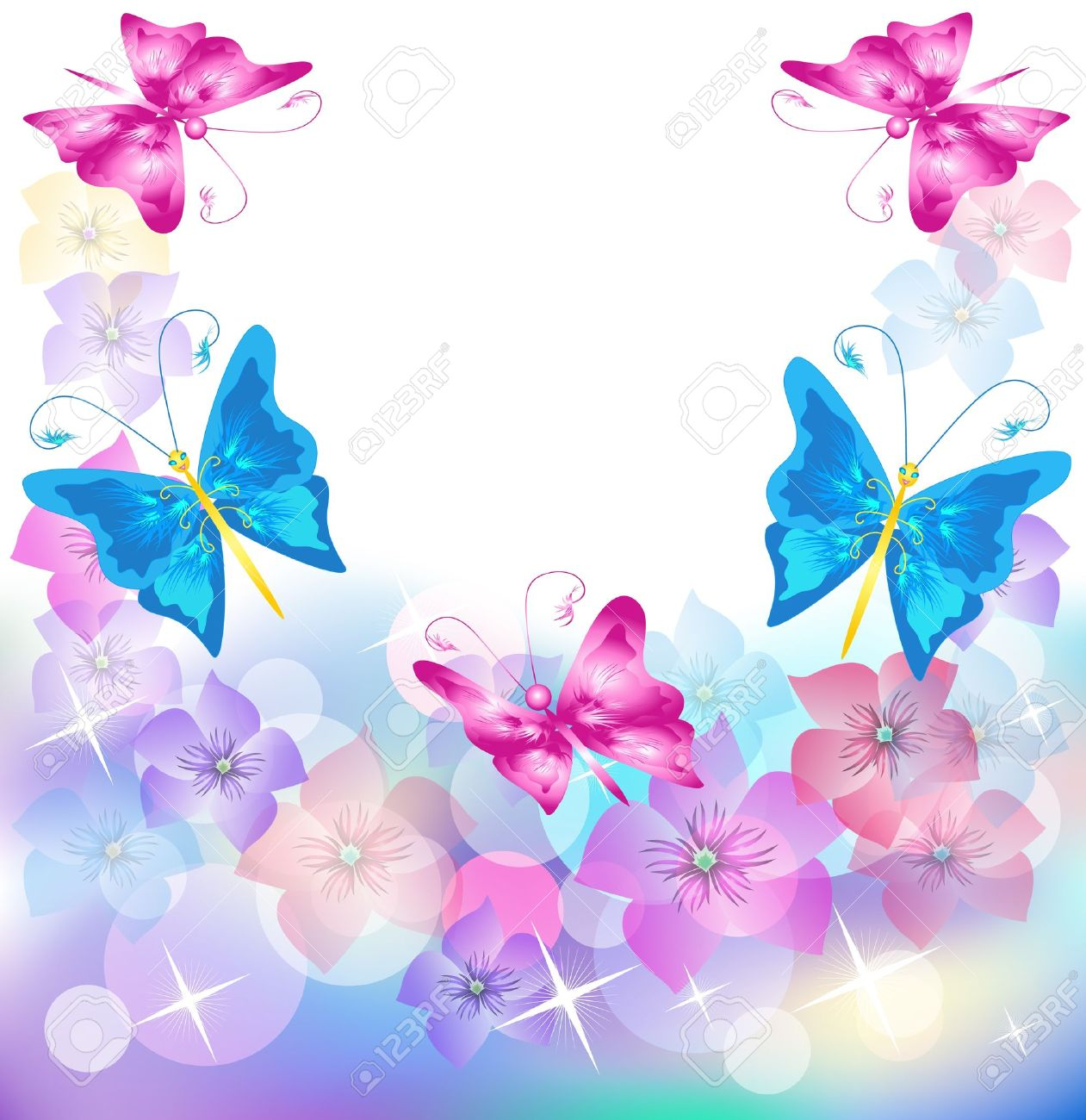 Floral background for an insert of the text or a photo. Stock Vector - 10273541