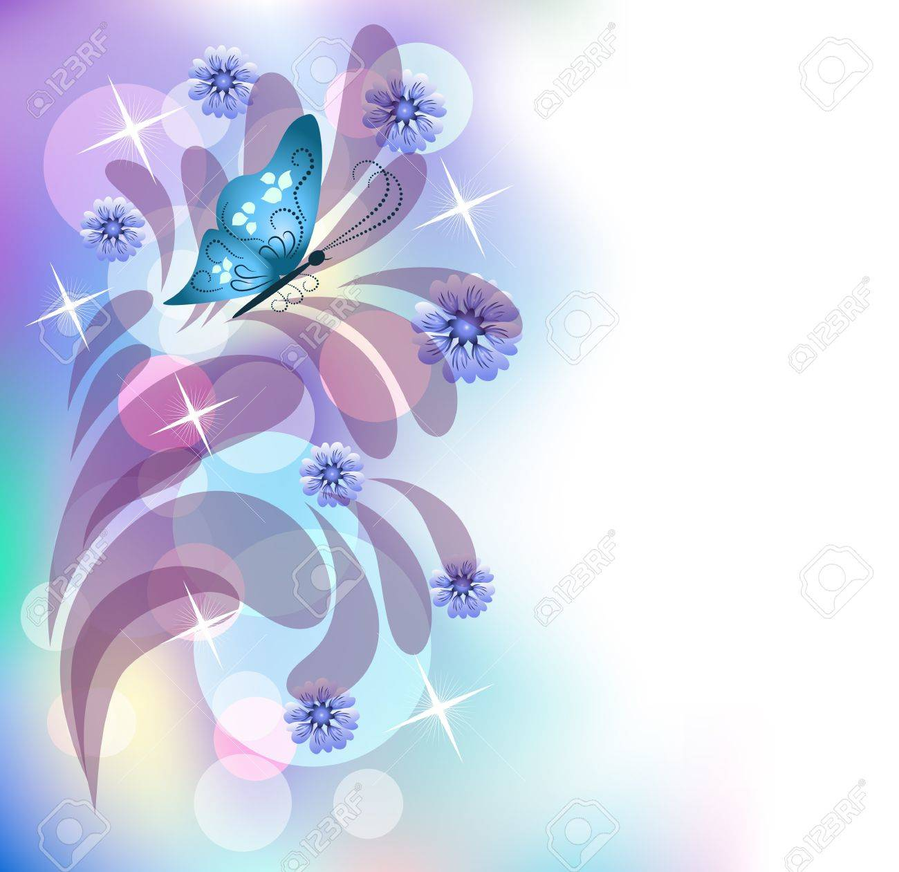 Floral background with butterfly Stock Vector - 10343121