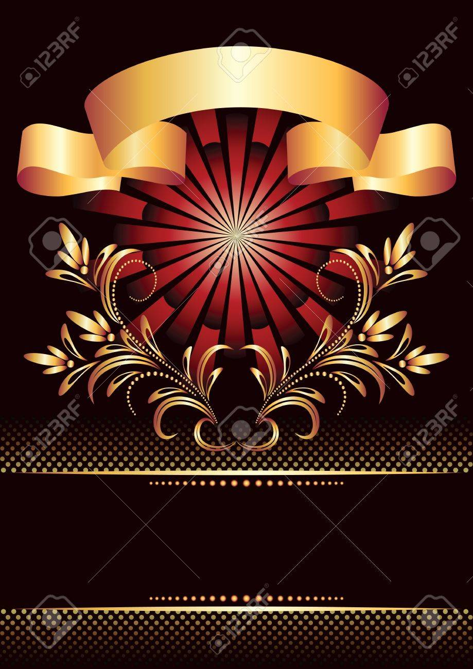 Background with golden ornament for various design artwork Stock Vector - 10343093