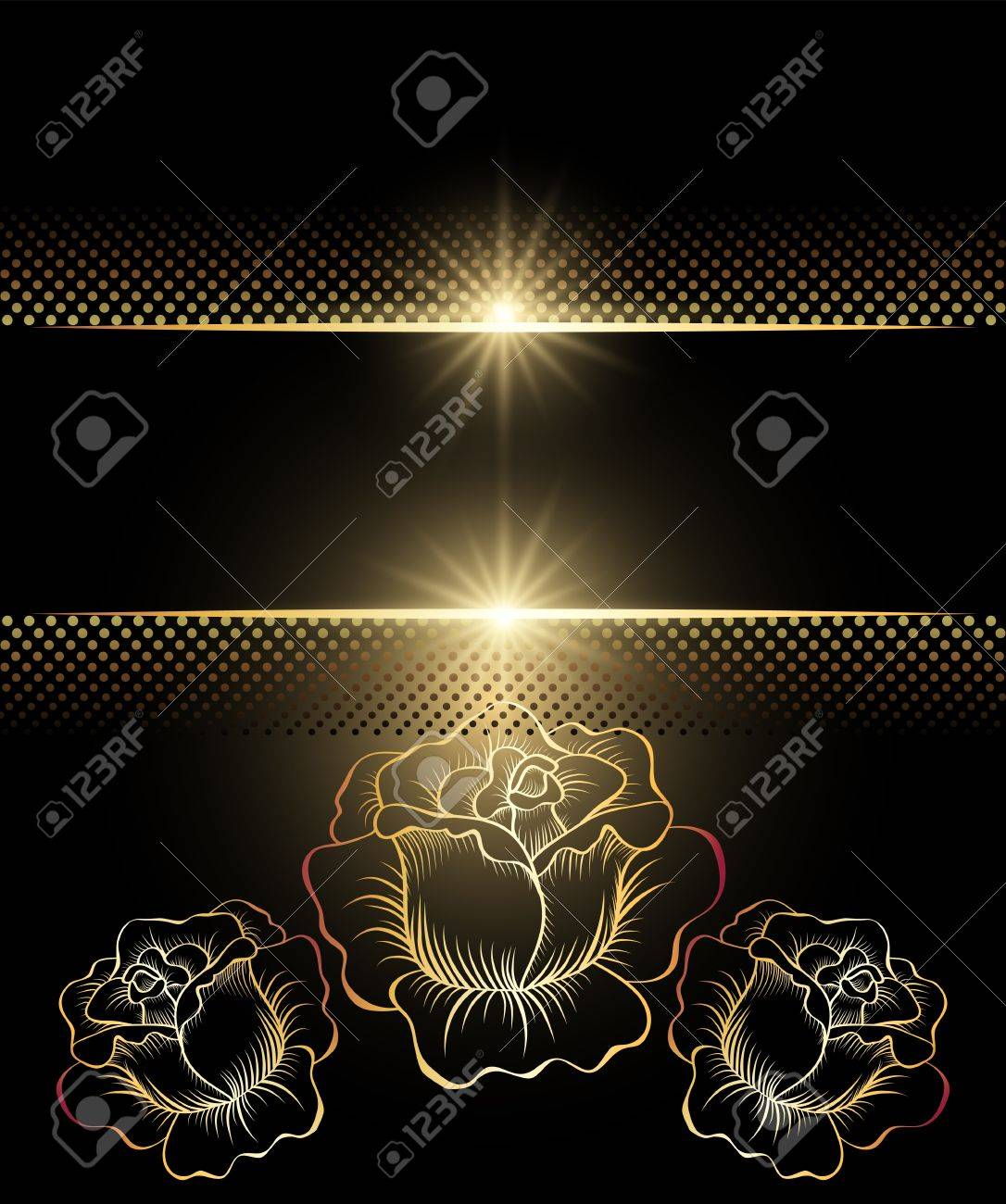 Background with golden ornament for various design artwork Stock Vector - 10343150