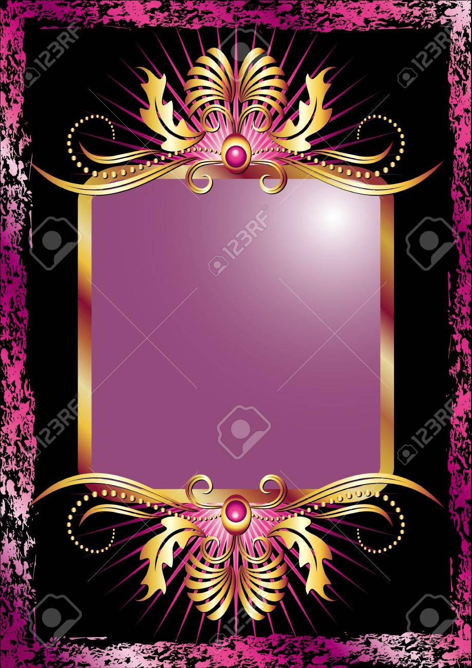 Black background with  luxurious ornament Stock Vector - 10366091