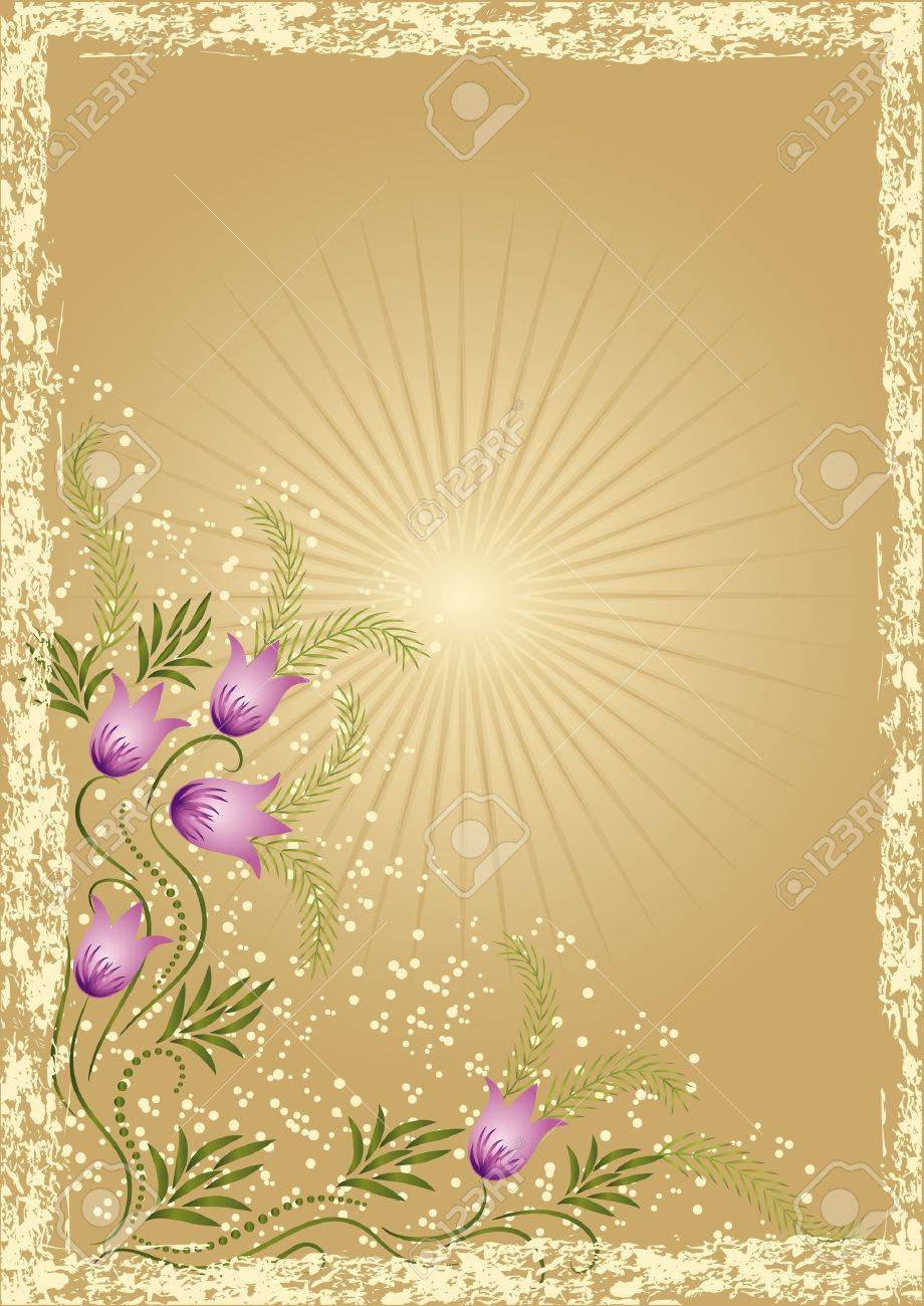 Card in retro style with meadow flower Stock Vector - 10373805