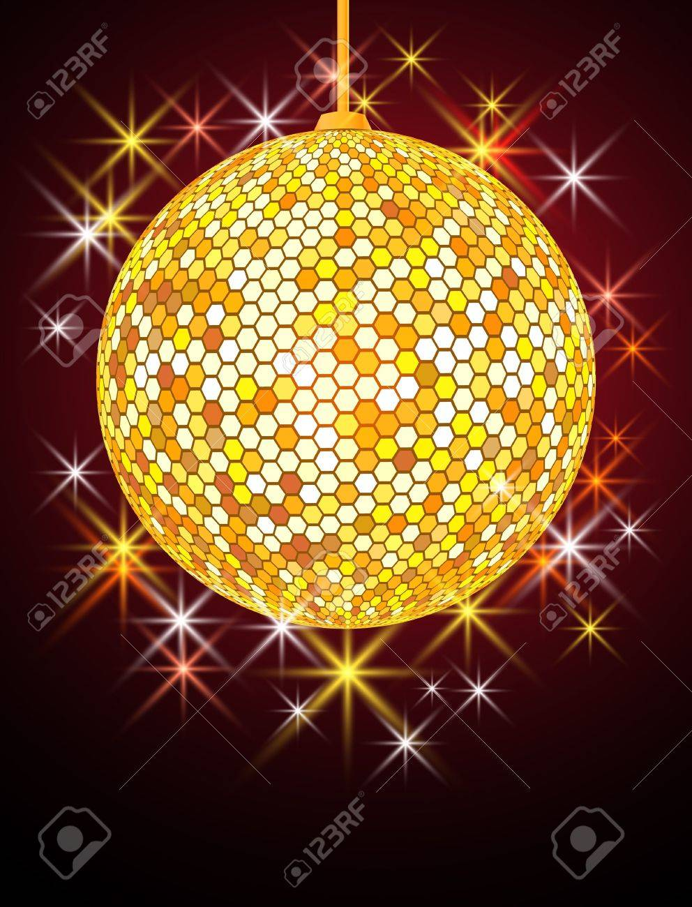 Celebratory background with disco ball Stock Vector - 10446916