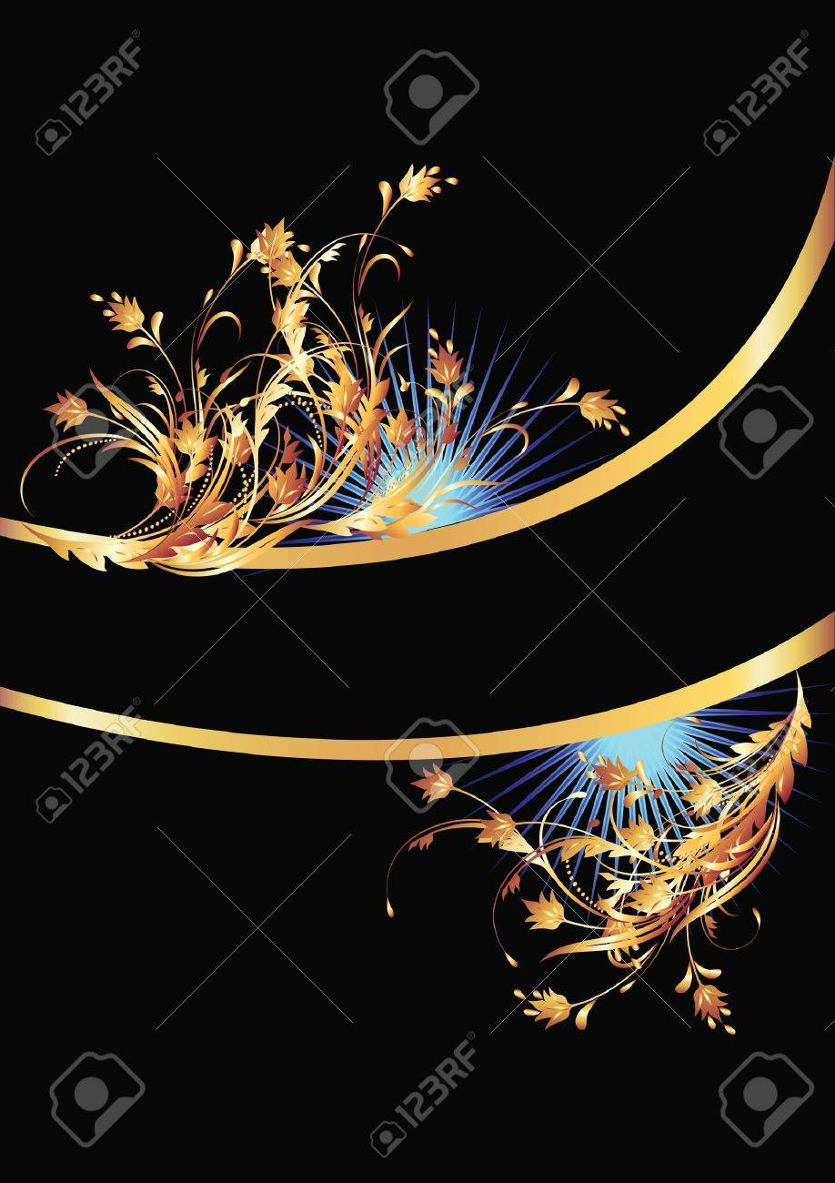 Background with golden ornament for various design artwork Stock Vector - 10490592