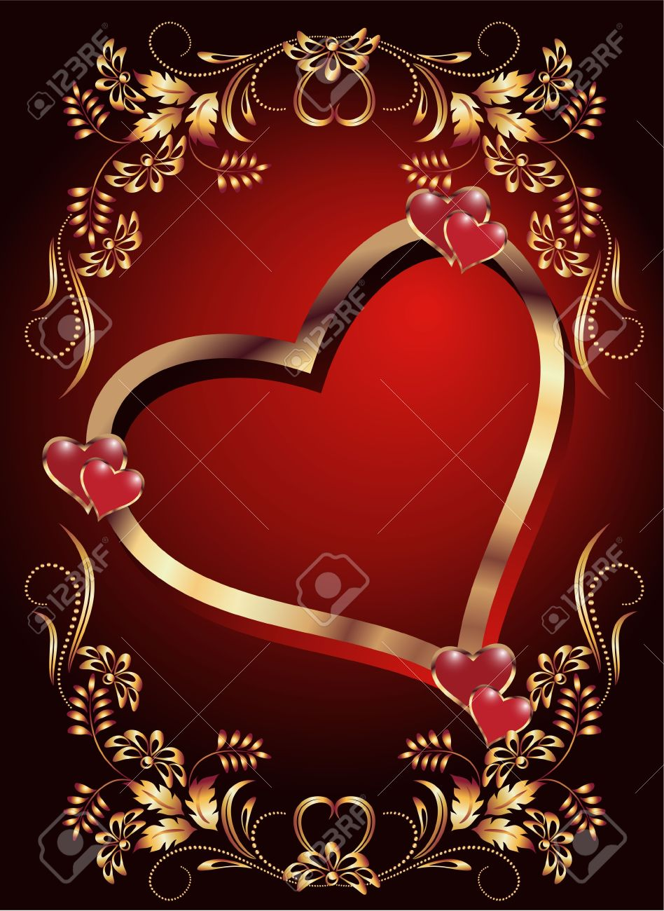 Card with decorative hearts Stock Vector - 10730034