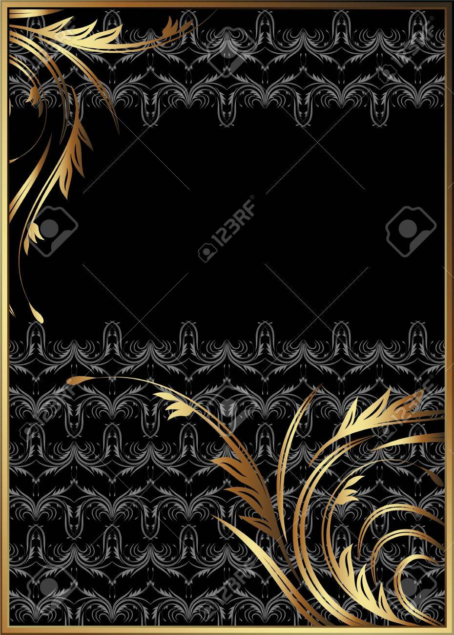 Background with golden ornament for various design artwork Stock Vector - 11622697