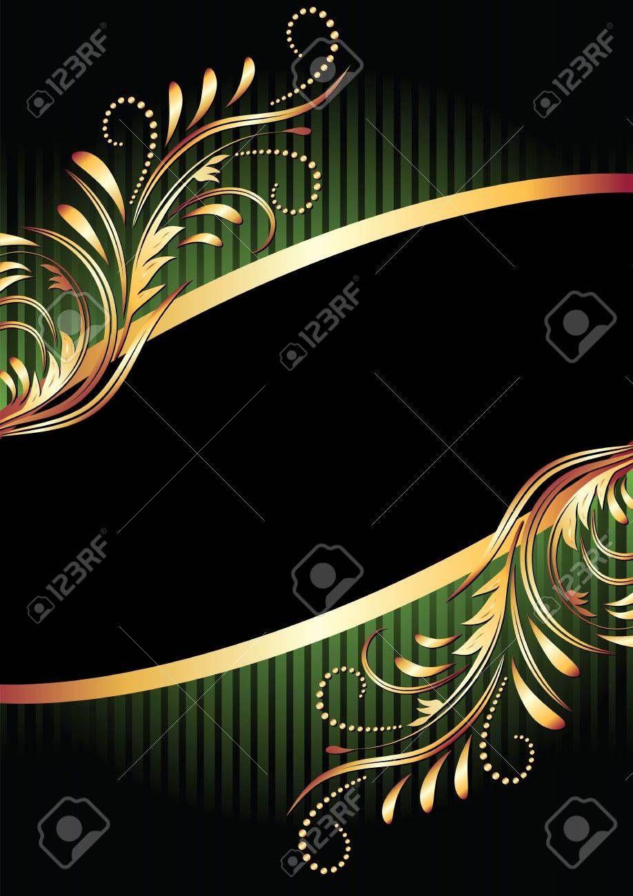 Background with golden ornament for various design artwork Stock Vector - 11623104