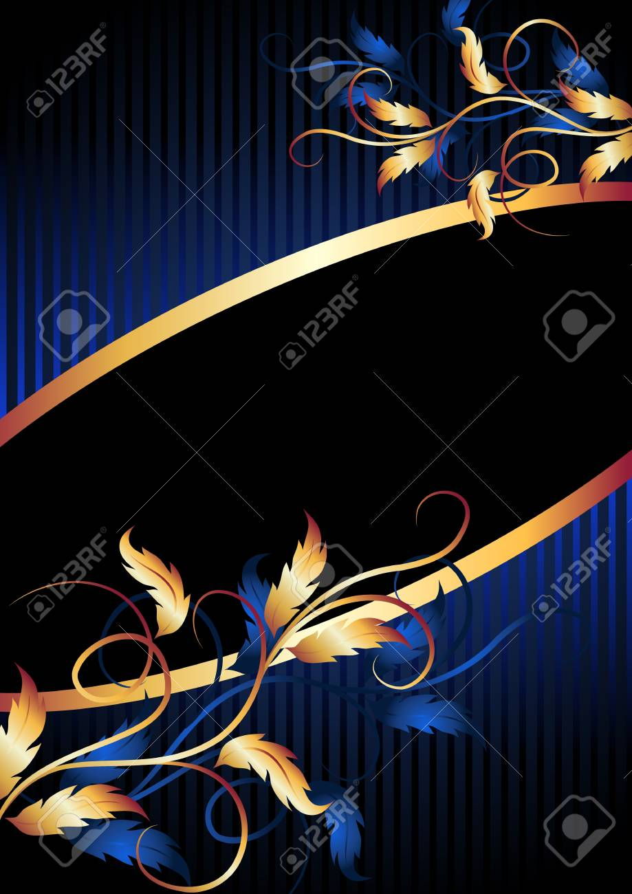 Background with golden ornament for various design artwork Stock Vector - 11640734