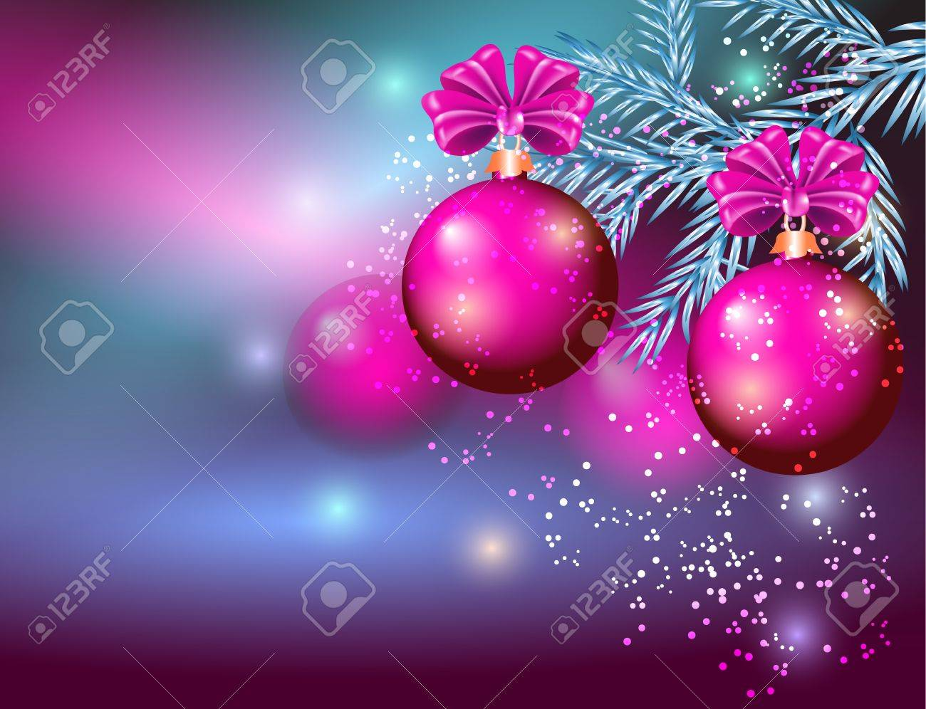 Christmas card with balls Stock Vector - 11818704
