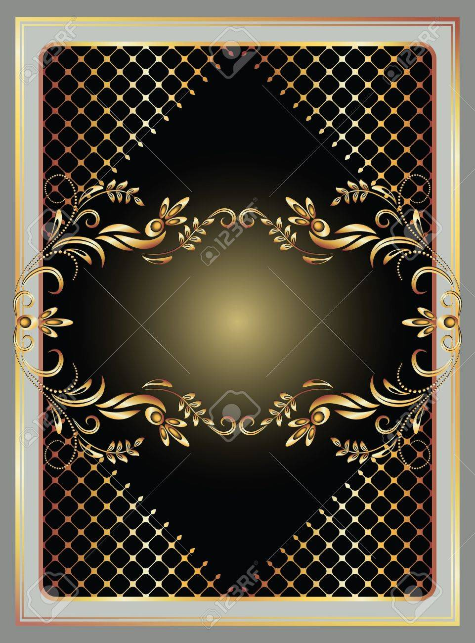 Background with golden ornament for various design artwork Stock Vector - 12469492
