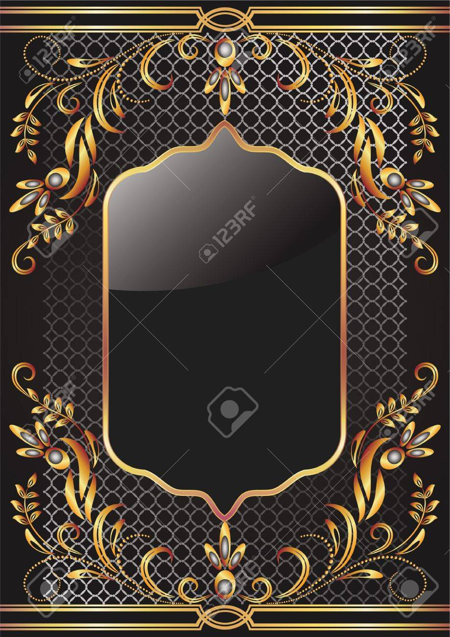 Background with golden ornament for various design artwork Stock Vector - 12469504