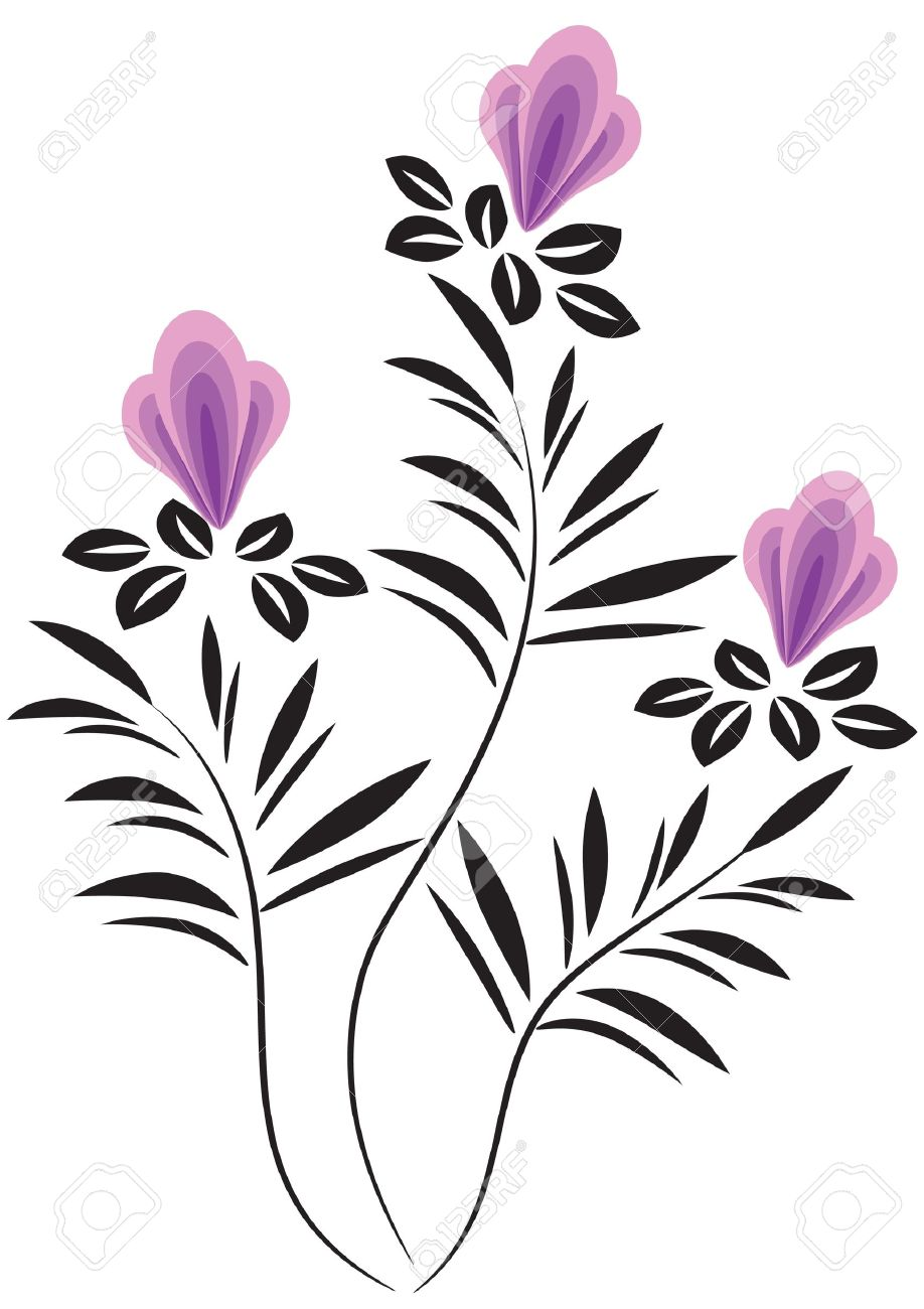 decorative flowers ornament stock vector 12809013 - Decorative Flowers
